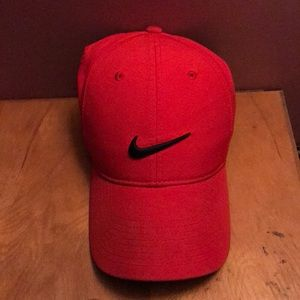 Nike red Velcro hat
